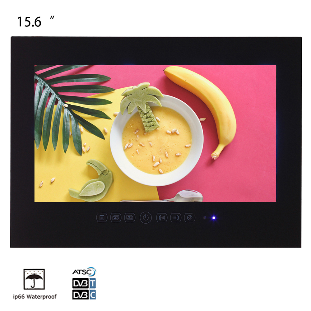 Souria 15.6 inch Bathroom LED IP66 Waterproof TV Hotel Decor Indoor Display USB DTV System(China)