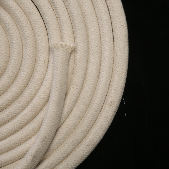 20mm 10m Natural Strong Braided Cotton Rope with Core DIY Handwork All Purpose Cotton Clothesline Cords