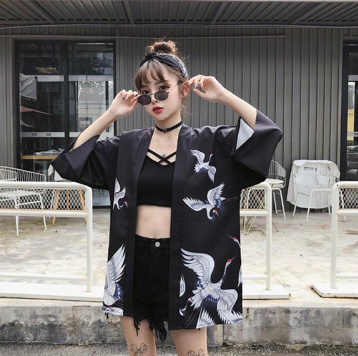 Summer Kimono Cardigan Woman Cardigan Japanese Kimono Yukata Woman Thin Loose Outer Garment