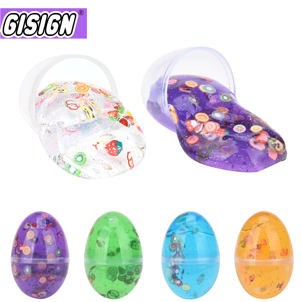 Crystal Egg Slime Toy Crystal Ball Mud Creative Modeling Clay  Playdough Lizun Slime Kids Putty Plasticine  Anti-Stress Toy