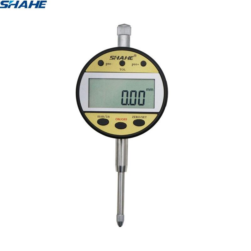 Freies Verschiffen Neue Typ Anzeige 0-25,4mm 0,01mm Digitale Messuhr Präzision Messung Tools Digitalen Messuhr