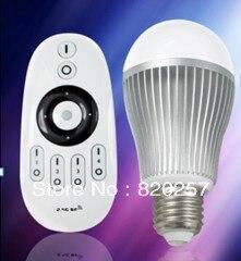 DHL EMS livraison gratuite 5 pièces lot 9 W E27 couleur température et luminosité ampoule led réglable avec télécommande, 2.4G wifi compatible