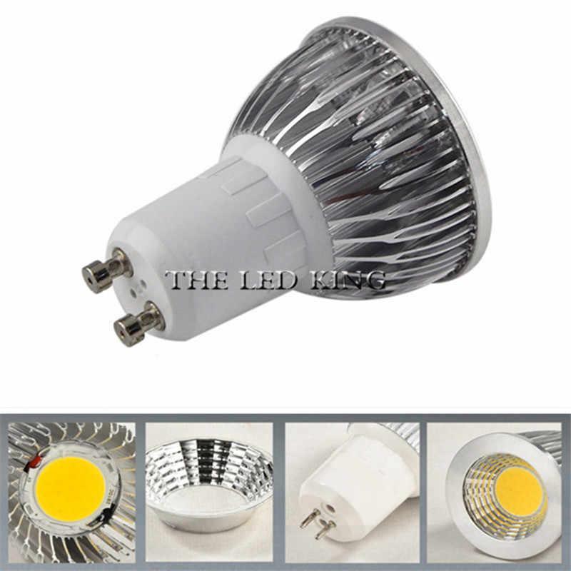 1-10 sztuk żarówka led reflektor ściemniania GU10 cob mr16 9w 12w 15w 18w ciepły biały światło dzienne zimny biały prawdziwa moc wymienić lampa halogenowa