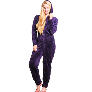 Image 4 - Winter Warm Pyjamas Women Plus Size Sleepwear Female Kingurumi Teddy Fleece Pajamas Plush Flannel Pajamas Sets For Women Adults