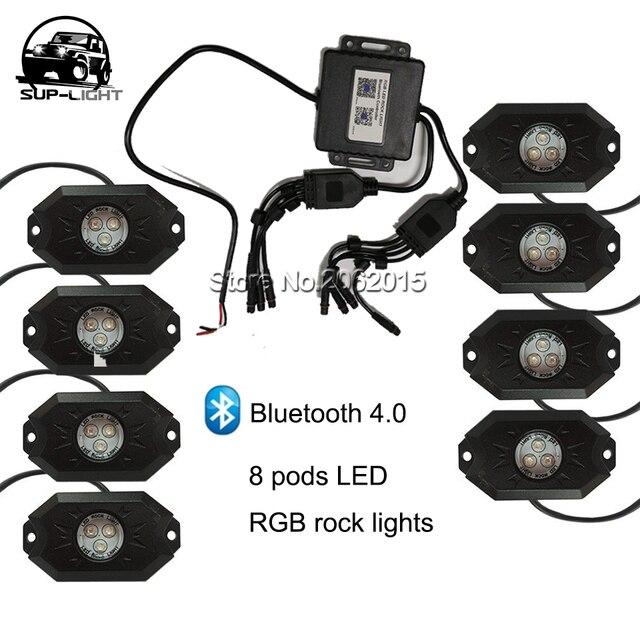 8 pods led rgb rock lights 8 in 1 boat led deck lamp 9w waterproof 8 pods led rgb rock lights 8 in 1 boat led deck lamp 9w waterproof ip68 mozeypictures Choice Image