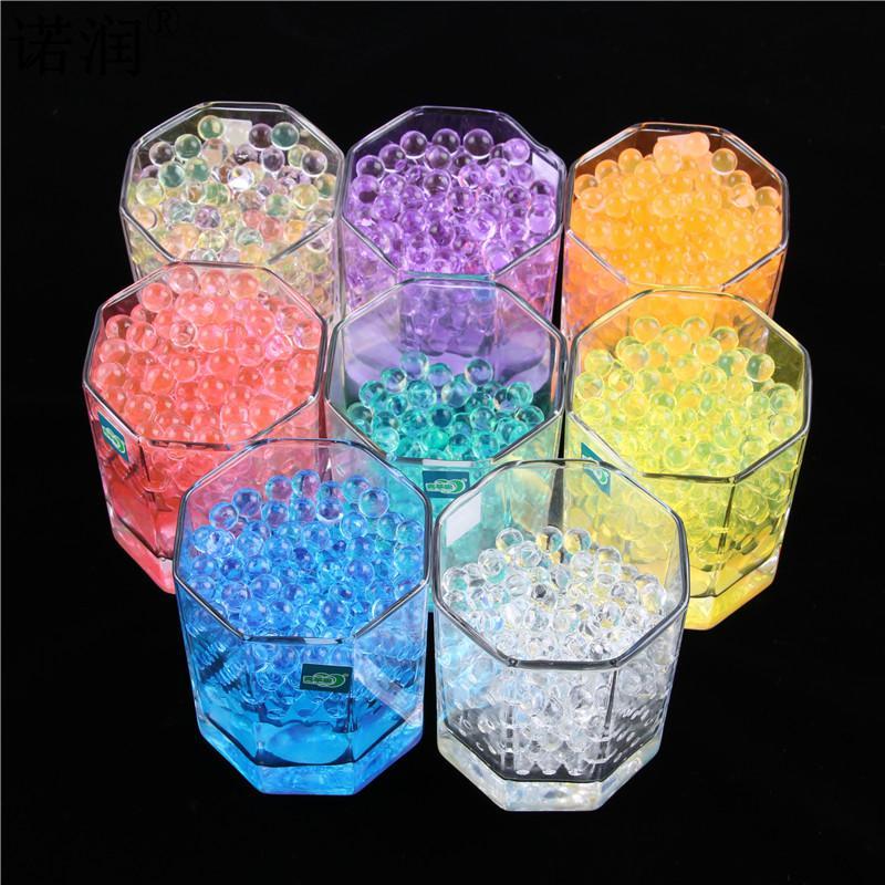 10000 unids/bolsa casa decoración en forma de perla de cristal bolas de agua para tierra bola de Gel Bio flor/boda de barro crecer Bolas Mágicas de gelatina