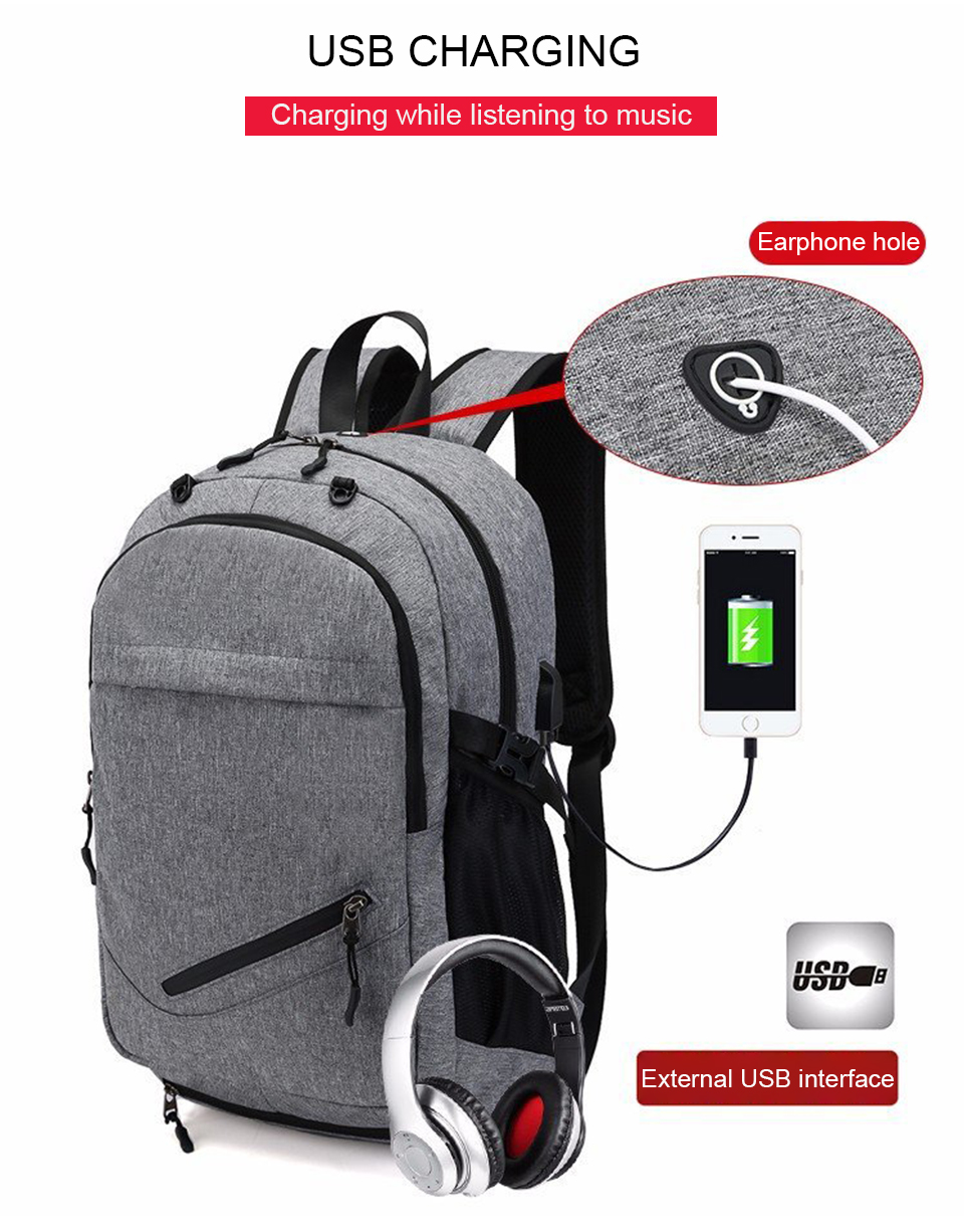 Travel Backpack Student Backpacks Laptop Notebook Back Pack Men Male Waterproof Bagpack USB Charging School Bags For Teenagers (2)