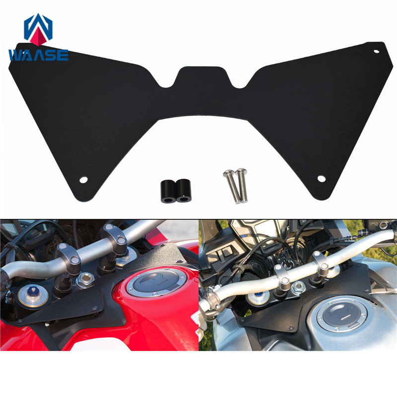 waase Motorcycle Forkshield Updraft Wind Deflector For Honda CRF1000L Africa Twin 2016 2017 2018 2019