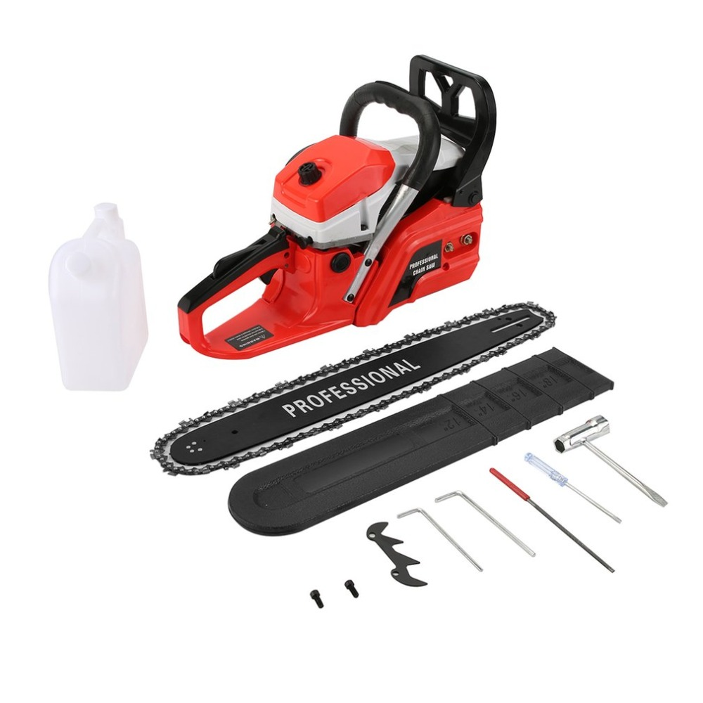 (Ship From DE)Professional 52CC Chain Saw Easy Start Small Engine Gasoline Chain Saw Gasoline Chain Saw Wood Cutting Saw japan makita electric chain saw guide bracket chain plate saw gasoline chain saw guide support plate