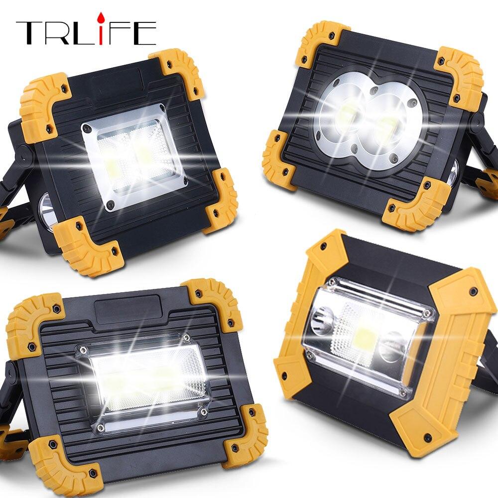 100 W Led Tragbare Spotlight Work Licht USB Aufladbare LEDFlashlights 2*18650 Oder 3 * AA Batterie Im Freien Licht für Jagd Camping