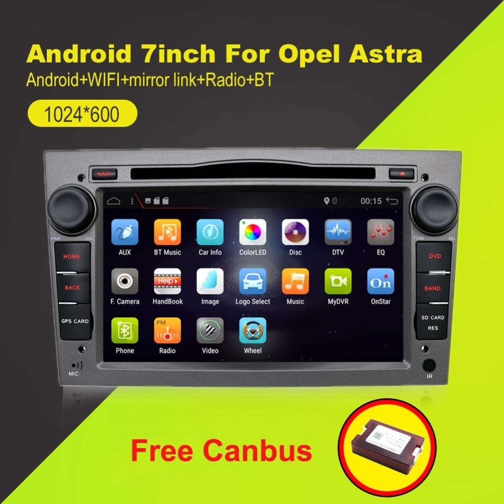 2 din Quad Core Android 7.1 Voiture bande enregistreur GPS Lecteur DVD Pour Opel Astra H Vectra Corsa Zafira B C G soutien OBD2