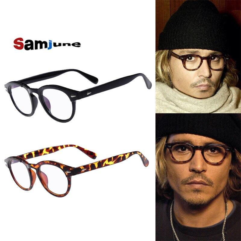 8d8565344c Samjunio alta calidad estilo Jhonny Depp gafas hombres Retro Vintage gafas  de prescripción mujeres gafas ópticas montura gafas