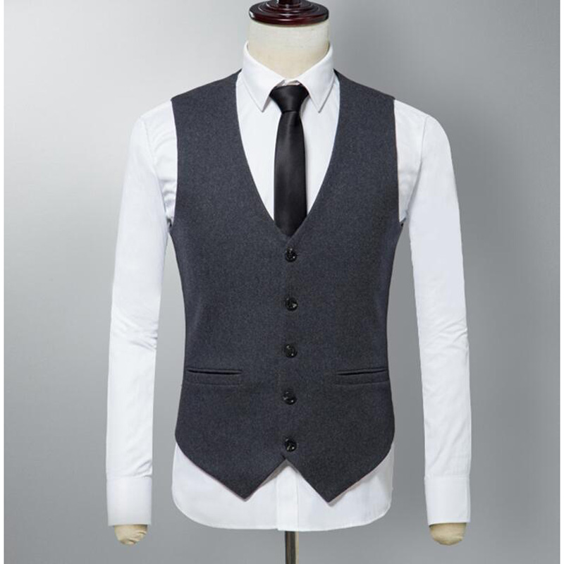 Modest 2018 New Men Suit Vest Slim Worsted Dress Wool Vests Mens High Quality British Waistcoat Casual Men Suit Vest Tops Numerous In Variety Suits & Blazers Vests