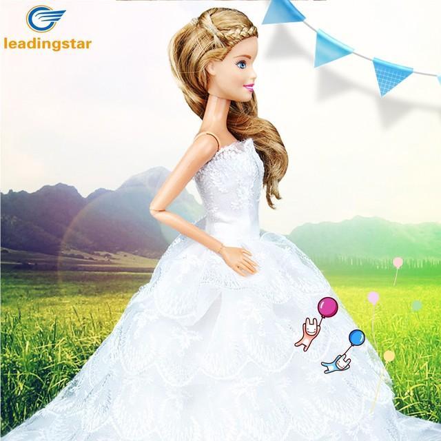 LeadingStar Elegant Nine layers Lace Cake Skirt Wedding Dress with ...