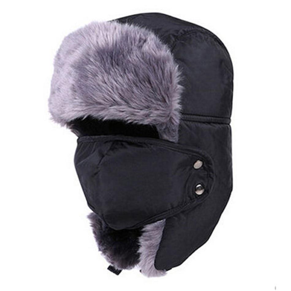 2019 New Men Women Winter Warm Hats Russian Trapper Trooper Earflap Outdoor  Sport Snow Ski Hat Cap Faux Fur Mens Hat-in Skullies   Beanies from Apparel  ... b1b2c637826