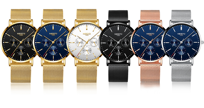 NIBOSI Luxury Brand 2018 Men Watches Ultra Thin Watches For Men Famous Brand Watch With Date men waterproof Relogio Masculino    (8)