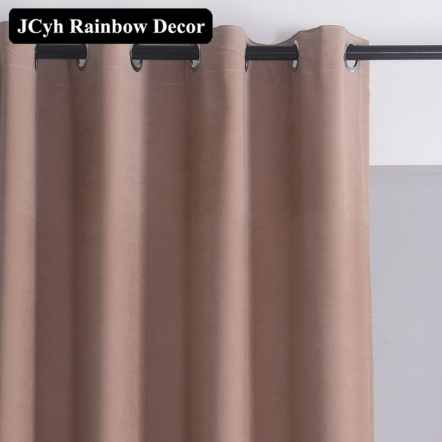 Di Velluto moderna Tende Oscuranti Per Soggiorno Finestra Tende Per La Camera Da Letto di Colore Solido Trattamento Tende Tende 95% di Sole-ombreggiatura