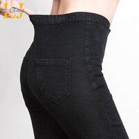 LEIJIJJEANS 2019 frauen push-up jeans Plus Größe frauen hosen Hohe Taille Voller Länge Frauen Casual Stretch Dünne Bleistift frauen hosen