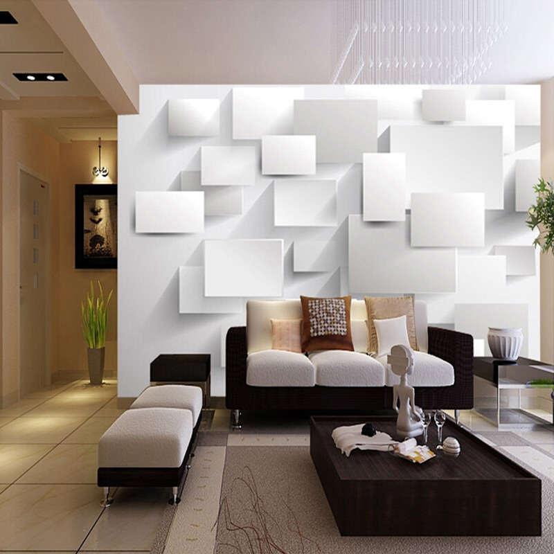 Modern 3D Large Mural Wallpaper Living Room Sofa Box 3D Cube Wallpaper  Murals Art Bedroom TV Backdrop 3D Mural Wallpaper Custom In Wallpapers From  Home ... Part 47