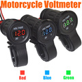 12-24V LED Digital Display Car Motorcycle Voltmeter Waterproof Meter Free Shipping 10000806