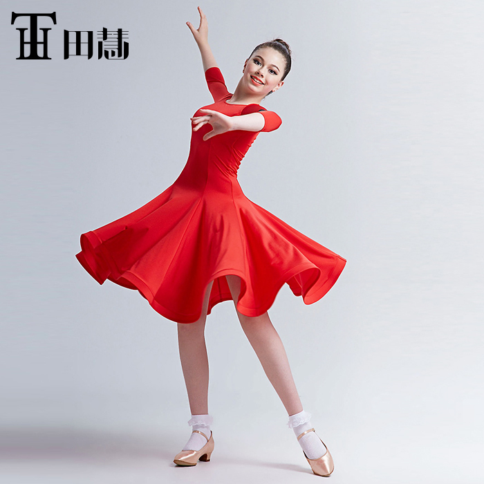 fashion new modern dance competition acrobatics clothing high quality latin dress free for women shipping 110-170cm height