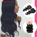 7A Malaysian Virgin Hair with Closure 3/4 bundles with Closure Malaysian Body wave with Closure Rosa hair products with Closure