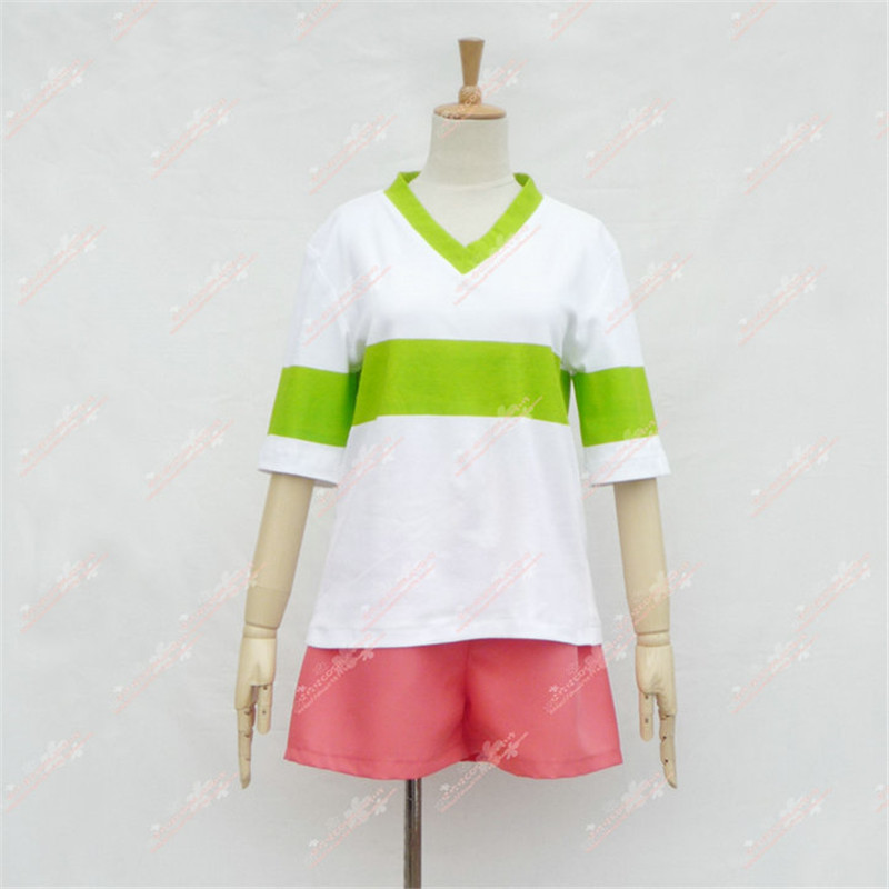 Image 4 - Spirited Away Chihiro Ogino Cosplay Costume Japan Anime Casual Costumes T shirt+Shorts-in Anime Costumes from Novelty & Special Use