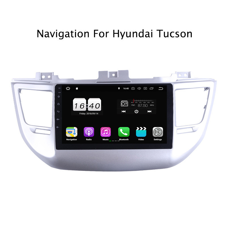 "9"" 2G RAM 16G ROM Android 8.1 Car DVD Multimedia Player For Hyundai Tucson GPS Navigation Radio Stereo Audio"