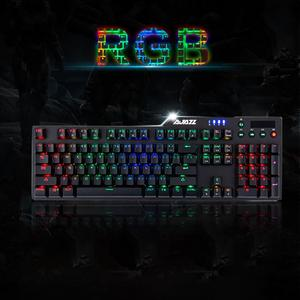 Image 5 - RGB Wired Game Green Shaft Mechanical Keyboard With Backlight Alloy usb 110 keys Green Axis Gaming Keyboards for Tablet pc Q70