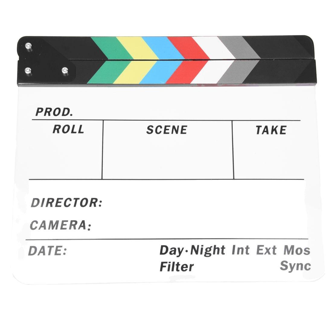 Générique Acrylique Coloré Clap TV Film Film Slate Cut Rôle Jouer Prop Hollywood