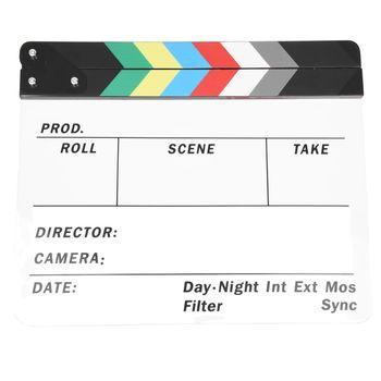 Generieke Acryl Kleurrijke Clapperboard TV Film Film Slate Cut Rollenspel Prop Hollywood