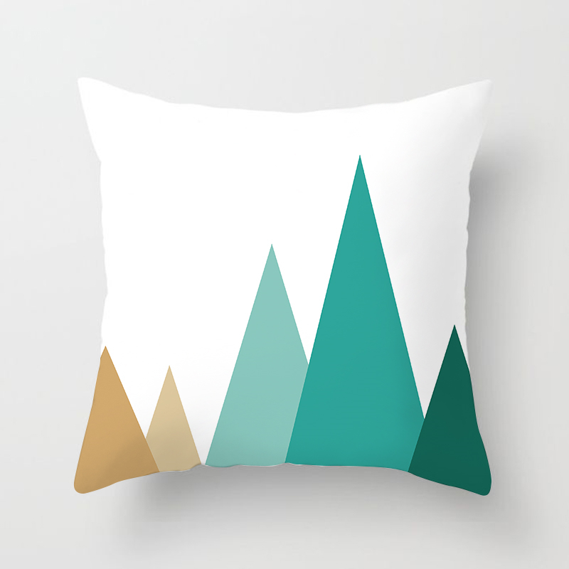 Fuwatacchi Nordic Style Geometric Cushion Covers Polyester Mountain Arrows Pillow Cases Not Cotton Pillow Covers Bedroom Sofa in Cushion Cover from Home Garden