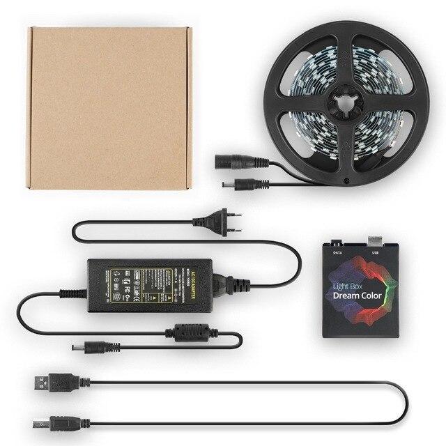 Excellux USB LED Streifen Hintergrundbeleuchtung für TV 5