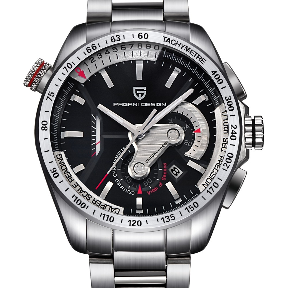 где купить top! Watches Men Luxury Brand PAGANI DESIGN Sport Wristwatch Dive 30m Military Multifunction Quartz Watch Relogio Masculino 2017 по лучшей цене