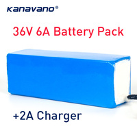 kanavano 36V 6Ah 18650 lithium battery pack& bike battery with PVC case for electric bicycle Balance Scooter 500W High power