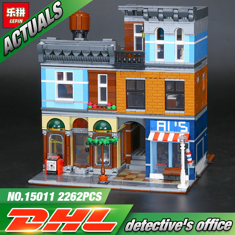 Lepin 15011 Creator Series The Detective's Office 2262PCS Set Avengers Set Assemble Building Blocks Toys lepin 15011 parsian creator expert city street resturant minifigure avengers set assemble building blocks toys compatible legeod