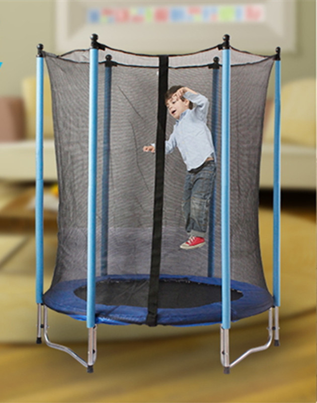 Outdoor/Indoor fitness Trampoline with protection net High quality steel pipe and strong drum springs Easy installation ld 988 ultra quiet fitness car home bicycles indoor sports to lose weight fitness equipment load 70kg indoor cycling bikes