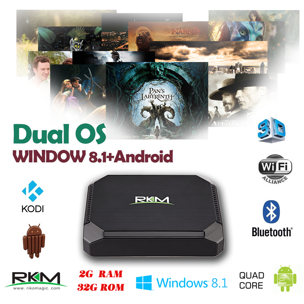 Android 44 TV Box Quad Core 2G 32G WIFI Android44 Windows81