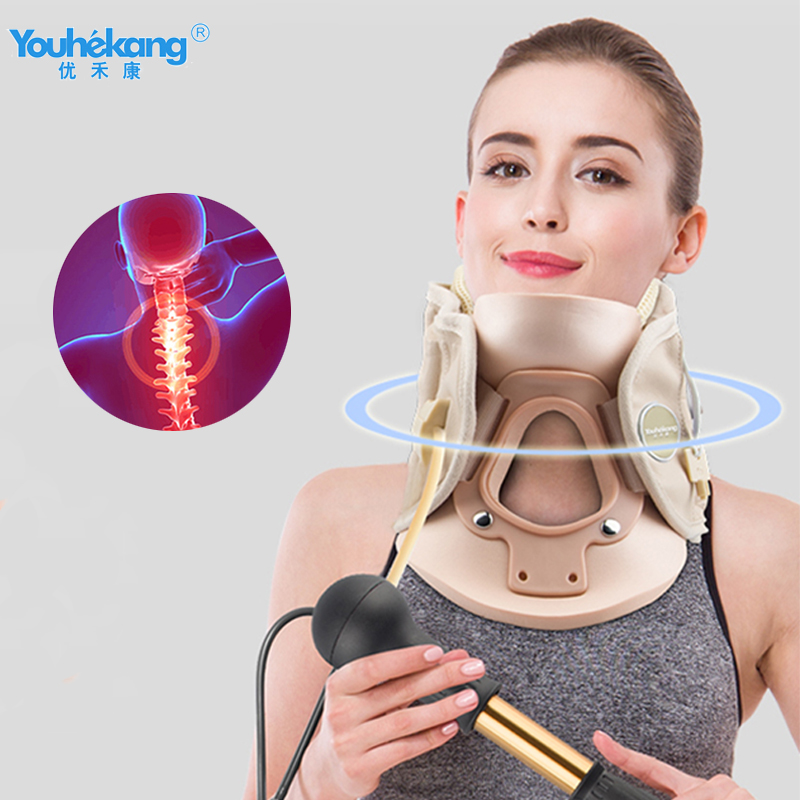 Youhekang Air Neck Traction I Inflatable Cervical Collar Neck Stretching Devices  Neck Collar Cervical Traction Support Brace