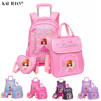 3PCS Trolley bag luggage set kids school bags for girls cute travel bag suitcase on wheels children's carry on luggage bag
