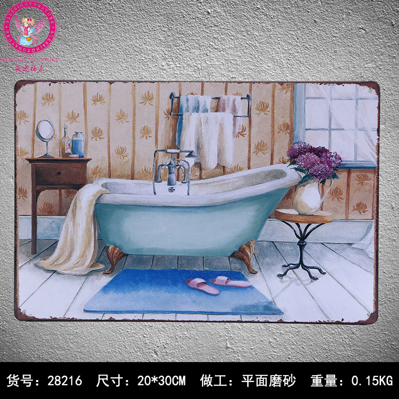30x20cm Bathroom Vintage Home Decor Tin Sign For Wall Decor Metal Sign Vintage Art Poster Retro