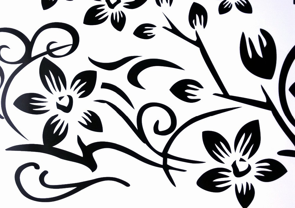 Hot DIY Wall Art Decal Decoration Fashion Romantic Flower Wall Sticker/ Wall Stickers Home Decor 3D Wallpaper Free Shipping 19