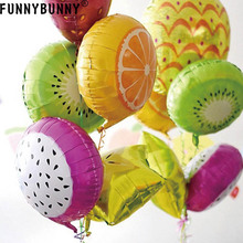 FUNNYBUNNY Party Decorations Festive Supplies 18 Inch Fruits Helium Aluminum Balloon Birthday foil decorative balloons