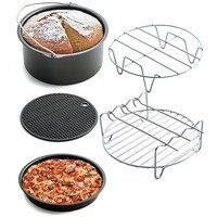 ZMHEGW 5 cái/bộ Không Khí Frying Pan Phụ Kiện nhà bếp cụ làm bánh cho bánh Nồi Chiên Baking Giỏ Bánh Pizza Bánh Mì Tấm Nướng Nồi Mat