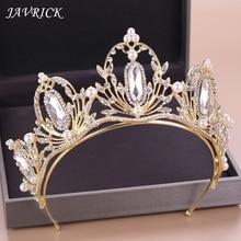 Bridal Tiara Engagement Wedding Girls Princess Crown Styling Headwear Hair Accessories Artificial Pearl Headdress Jewelry Gift