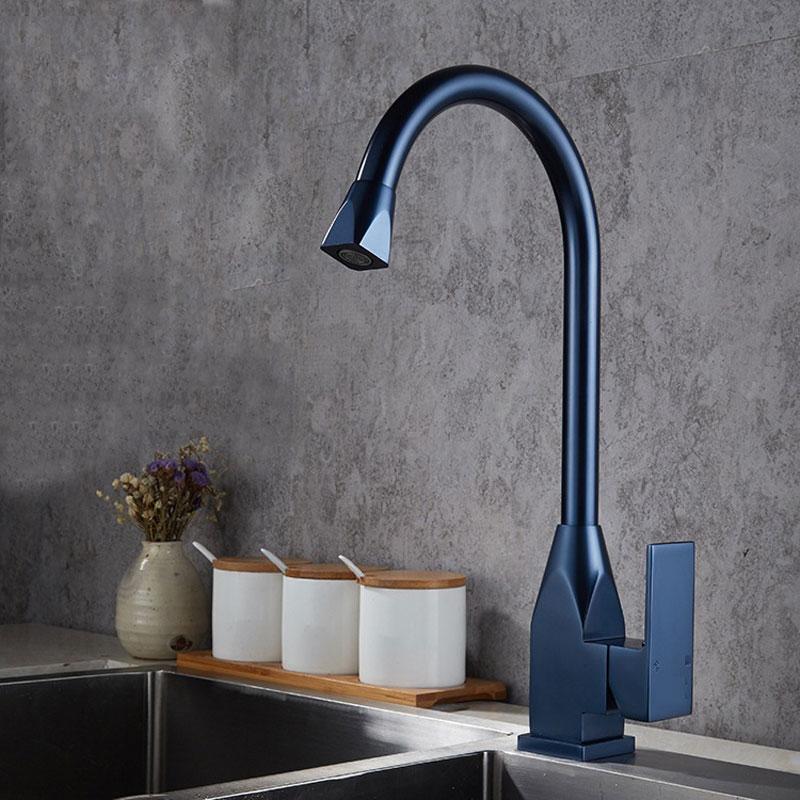 Blue Grey E Aluminum Kitchen Faucet