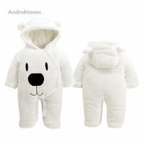 Androktones Winter Animal Kids Clothes Baby Boys Girls Jumpsuits Overalls Cosplay Halloween Christmas Costume Fleece Romper