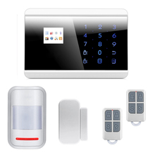 Wireless GSM PSTN Alarm System Home Burglar Intruder Phone APP Control with Intelligent Sensors Russian/French/Spanish Version