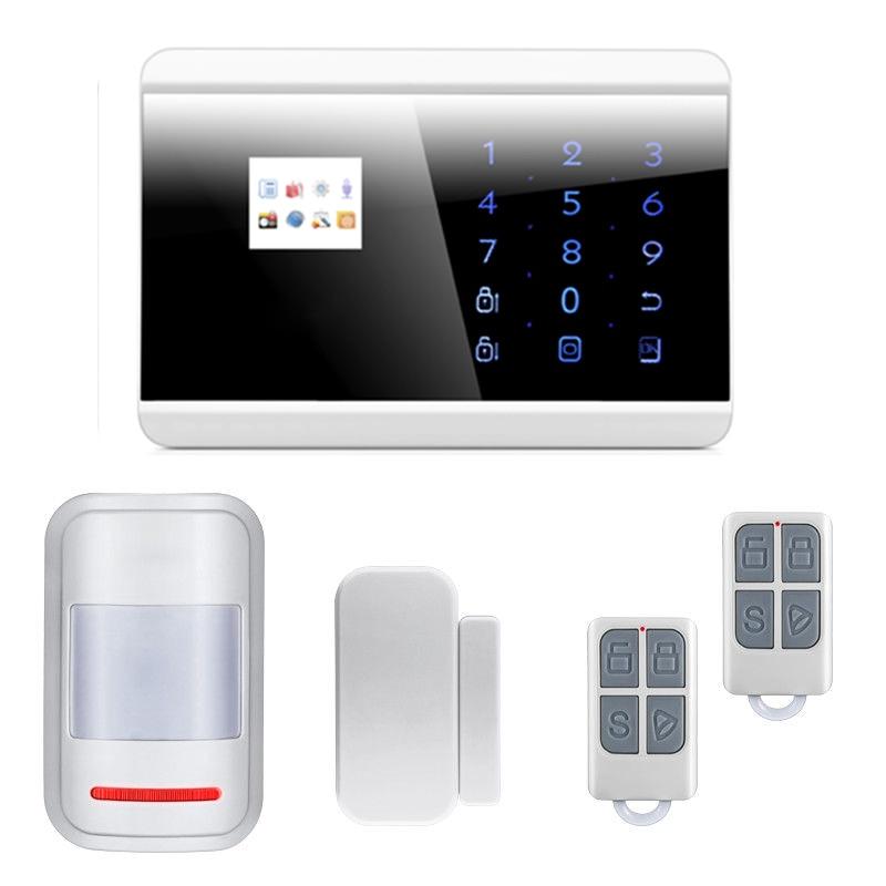 Wireless GSM PSTN Alarm System Home Burglar Intruder Phone APP Control with Intelligent Sensors Russian/French/Spanish Version