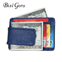 Bisi goro 2019 foreign trade explosives real pickup bag wallet burglar swipe card set RFID wallet magnet card holder card bag